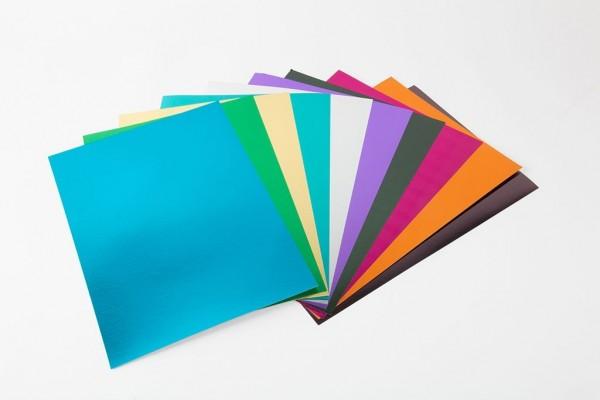 Fotokarton Metallic A4, 500 Blatt, 10 versch. Farb