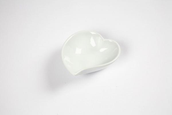 Porzellan Herzförmige Schale weiß 12er Pack
