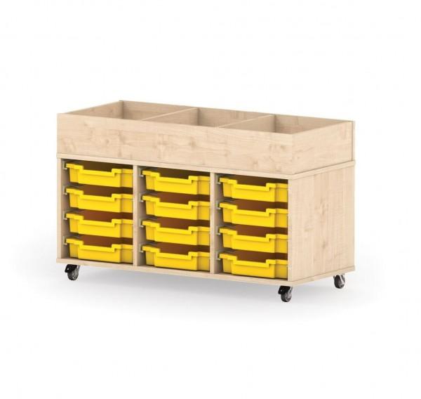 Multifunktionaler Tisch hoch für 6 oder 12 Boxen