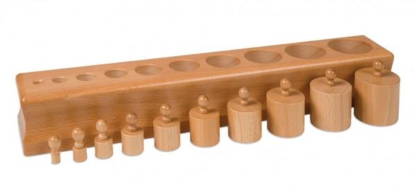 Block mit Zylindern 1 Montessori