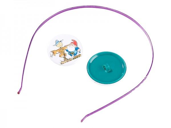 Haarband mit Button 37 mm 50er Pack