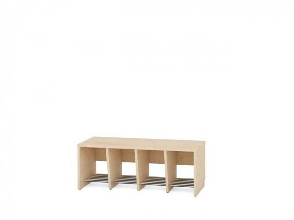 4er Garderobenregal für Sitzhöhe 35 cm