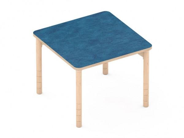 Schalldämmender Tisch Quatrattisch blau