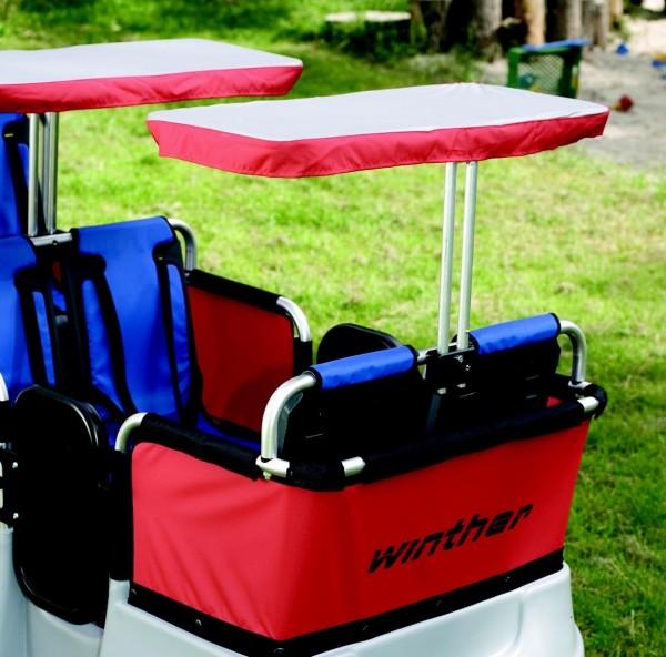 Winther Sonnenschutz für 2 Sitzplätze Turtlebus