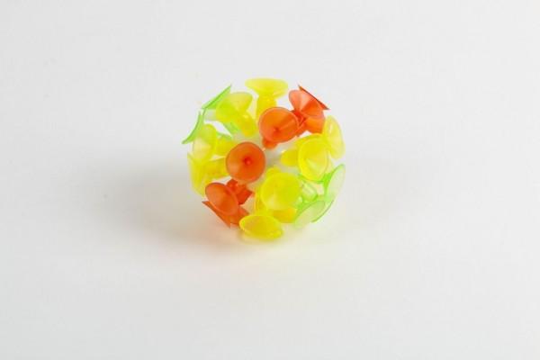 Rainbow Ball mit Saugnäpfen und Licht, Ø 5,5 cm
