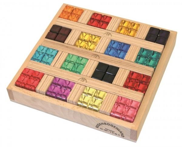 Regenbogensteine Set mit Holzkiste 64 tlg.
