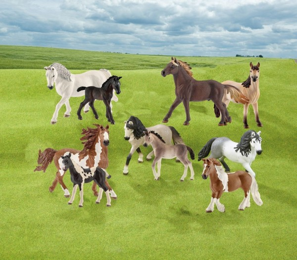 Schleich Pferde Set 10 tlg.