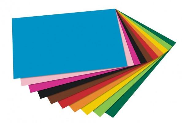 Tonpapiersortimentspack 130 g, 100er Pack 50x70 cm