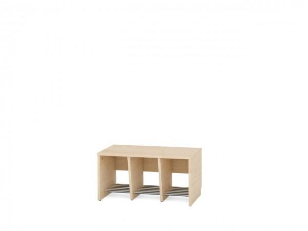 3er Garderobenregal für Sitzhöhe 35 cm