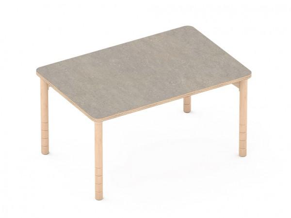 Schalldämmender Tisch Rechteckig grau