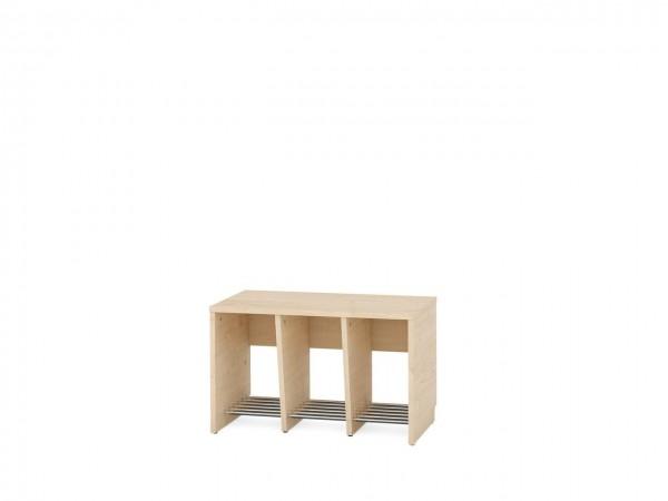 3er Garderobenregal für Sitzhöhe 43 cm