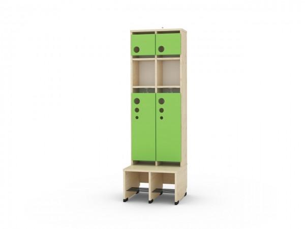 2 er Maxi Garderobe mit Extrafach und Türen