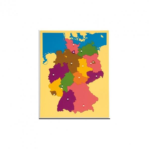 Puzzelkarte Deutschland Montessori