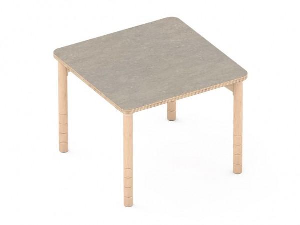 Schalldämmender Tisch Quatratisch grau
