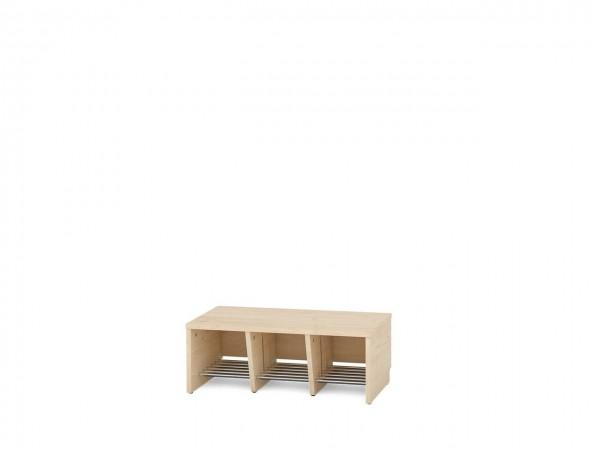 3er Garderobenregal für Sitzhöhe 26 cm