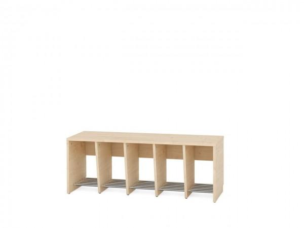 5er Garderobenregal für Sitzhöhe 43 cm