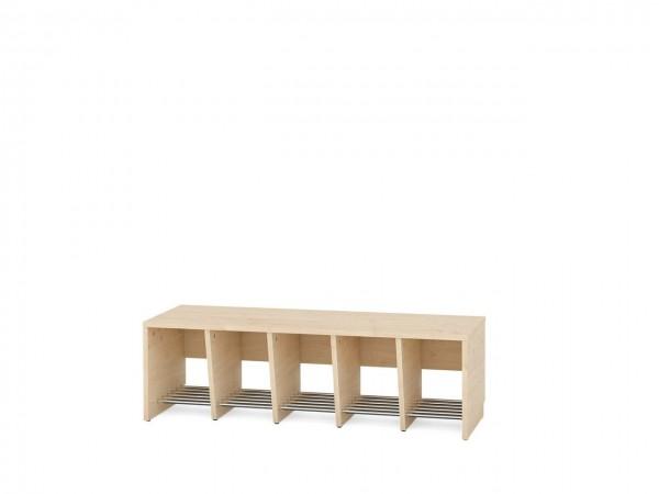5er Garderobenregal für Sitzhöhe 35 cm