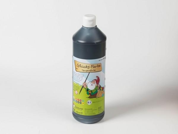 Temperafarbe 1.000 ml schwarz