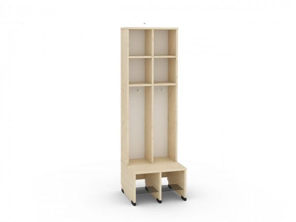 2er Maxi Garderobe mit Extrafach ohne Türen