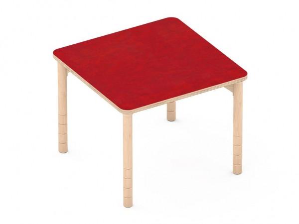 Schalldämmender Tisch Quatratisch rot